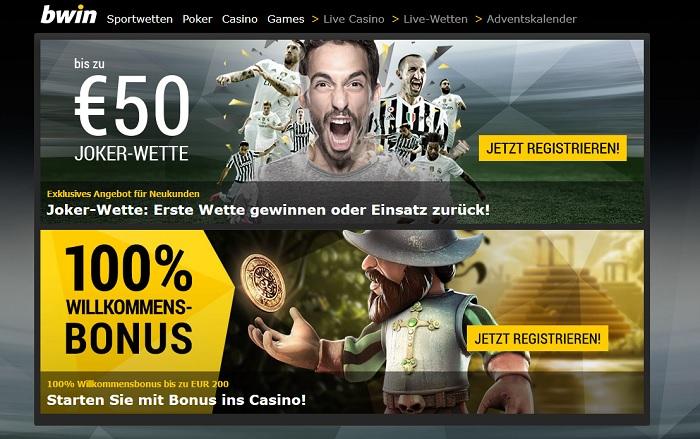 bwin ist ein gefragter Sportwettenanbieter (Quelle: bwin)