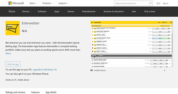 Die Interwetten-App kann in insgesamt vier Versionen heruntergeladen und genutzt werden (Quelle: Interwetten)