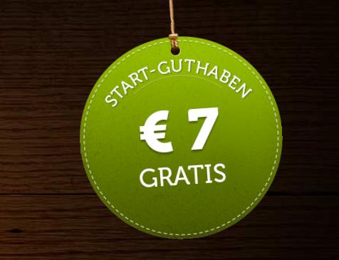 Mit dem ComeOn-Bonus ein Startguthaben von 7 Euro sichern (Quelle: ComeOn)