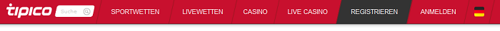 Tipico führt nicht nur Sportwetten, sondern auch ein Online-Casino (Quelle: Tipico)