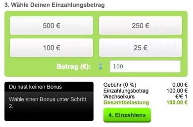 Sinnvolles Bankrollmanagement: Nie zu viel einzahlen! (Quelle: Mobilbet)