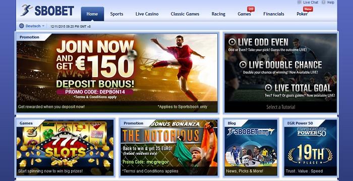 SBOBET ist ein beliebter asiatischer Sportwettenanbieter ohne Gewinnlimit (Quelle: SBOBET)
