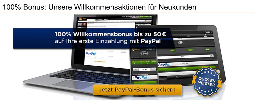 Bet3000-Neukunden können sich einen Bonus von 100% bis 50€ sichern (Quelle: Bet3000)