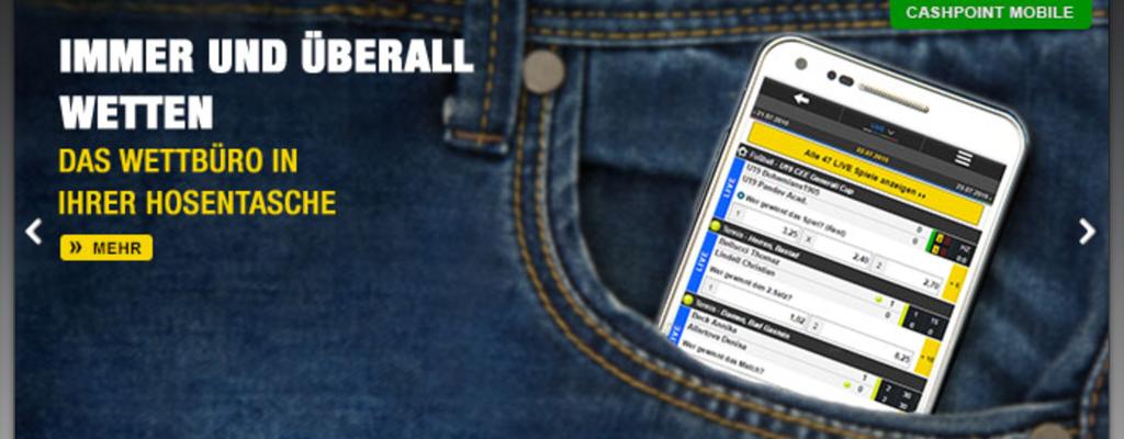 Die Mobile App von CASHPOINT (Quelle: CASHPOINT)