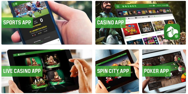 Unibet punktet mit einer großen Auswahl perfekter Apps (Quelle: Unibet)