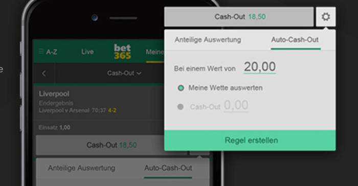Auto-Cash-Out bei bet365
