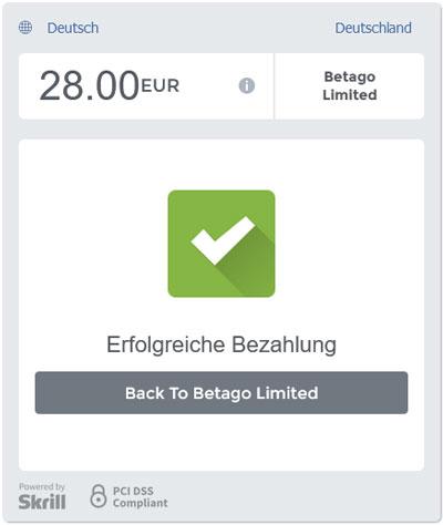 Einzahlung Betago