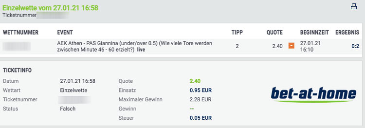 bet-at-home Livewette