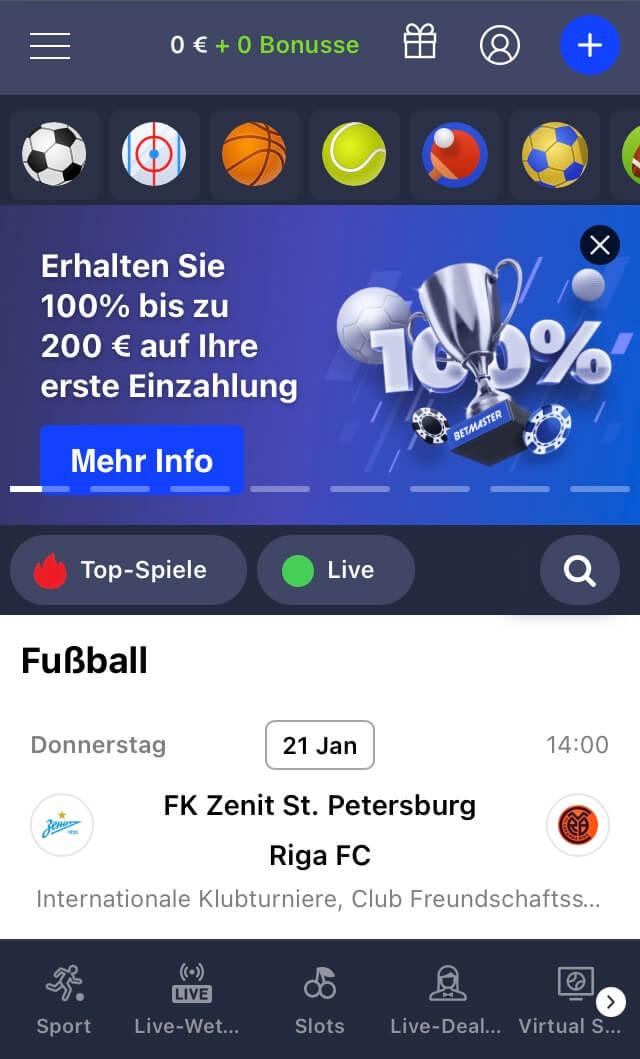 Betmaster Sportwetten Erfahrungen – Mobile App