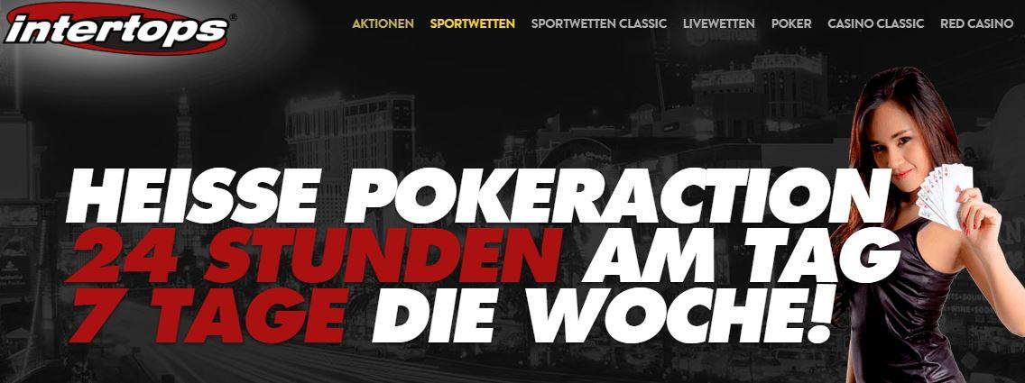 Pokern bei Intertops? Gerne! Rund um die Uhr an sieben Tagen in der Woche (Quelle: Intertops)