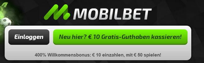 Mobilbet bietet auch über die App einen Willkommensbonus an (Quelle: Mobilbet)