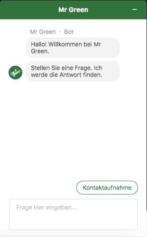 Mr Green Sportwetten Live-Chat