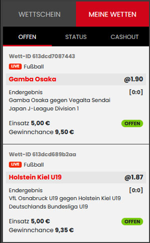 Wette bei Select.bet