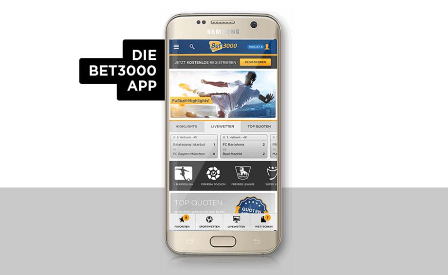 Mobile App von Bet3000