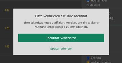 bet365 Identifikation