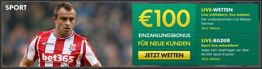 bet365 Neukundenbonus Sport