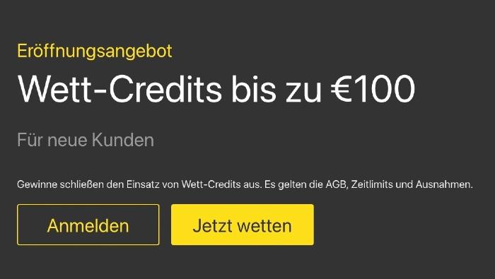 Die Wett-Credits bei bet365