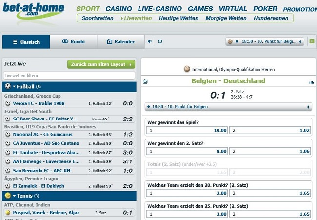 Live-Wetten-Angebot von bet-at-home.com (Quelle: bet-at-home.com)
