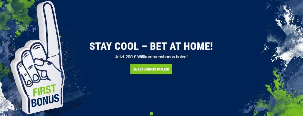 Willkommensbonus bei bet-at-home