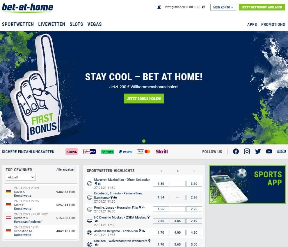 Design von bet-at-home