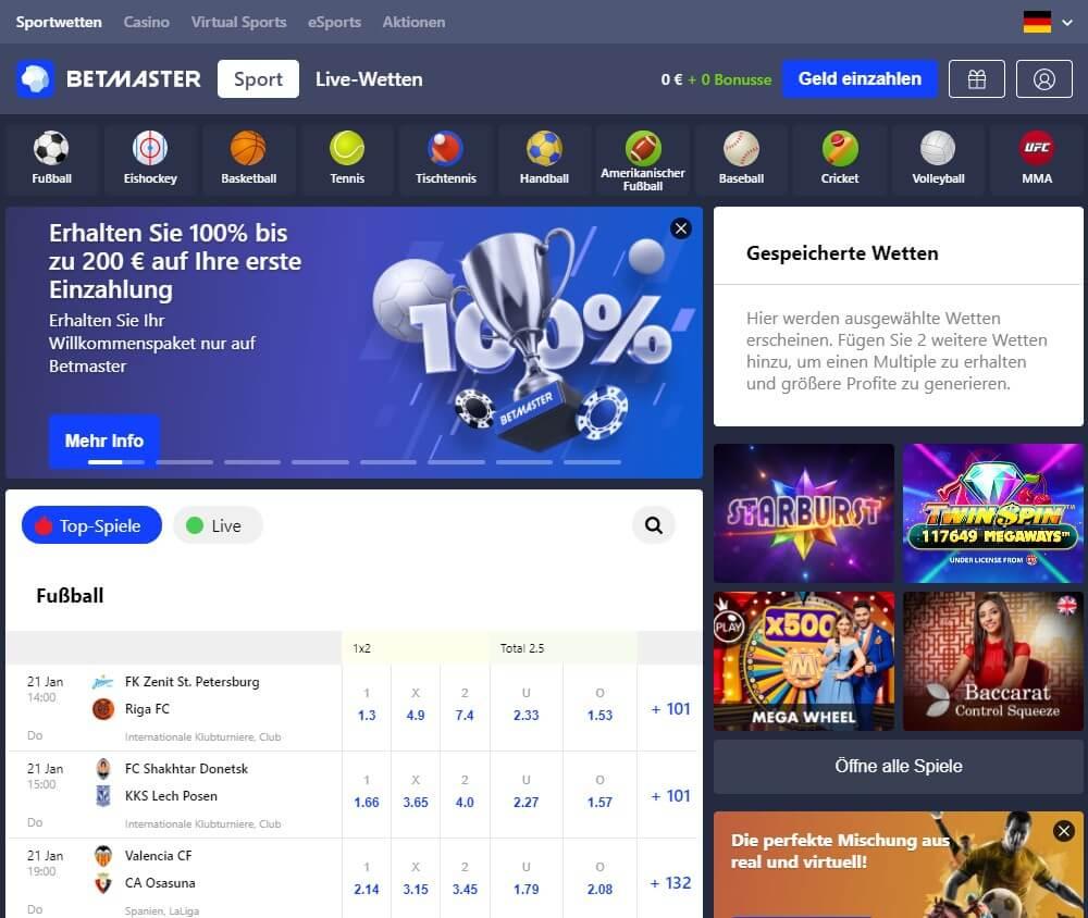 Betmaster Sportwetten Erfahrungen – Design