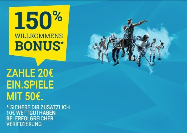 Ein Bonus ohne Einzahlung bei Sportwetten.de