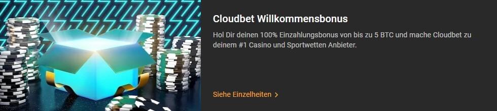 Bonus von Cloudbet