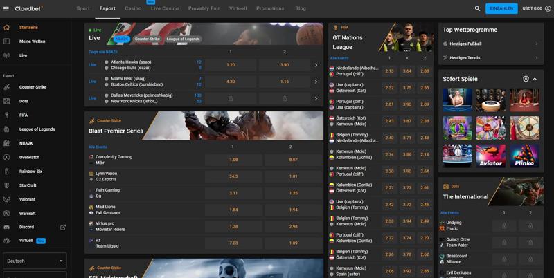 eSports bei Cloudbet