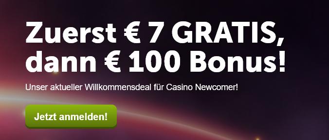 Der Willkommensbonus von ComeOn verspricht 100% bis zu 100 Euro (Quelle: ComeOn)