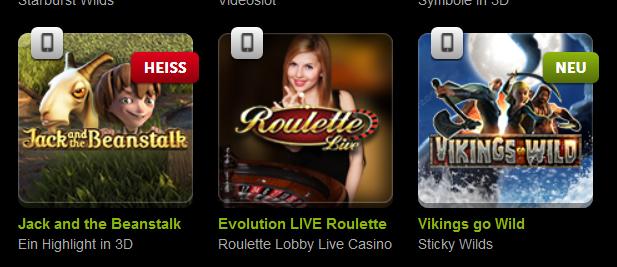 Auch das ComeOn Casino kann mobil genutzt werden (Quelle: ComeOn)