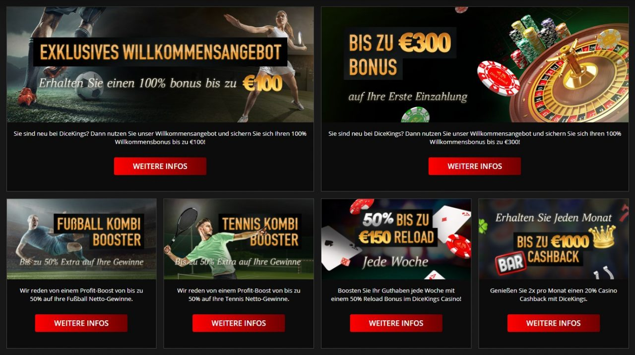 dice kings bonus angebot übersicht