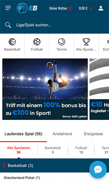 EagleBet Erfahrungen – Mobile App