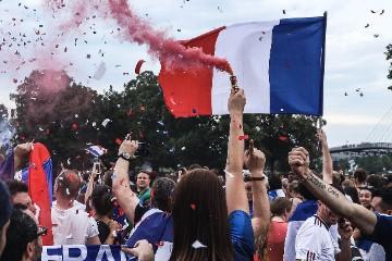 Jubelne Fans in Frankreich bei der EM 2016