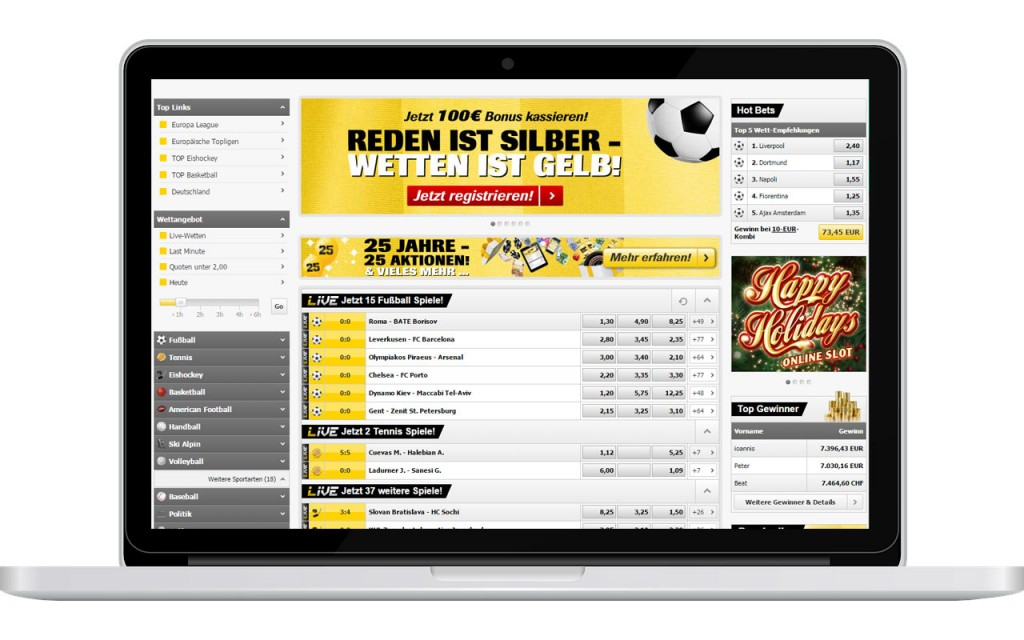 Interwetten Wettangebot (Quelle: Interwetten)