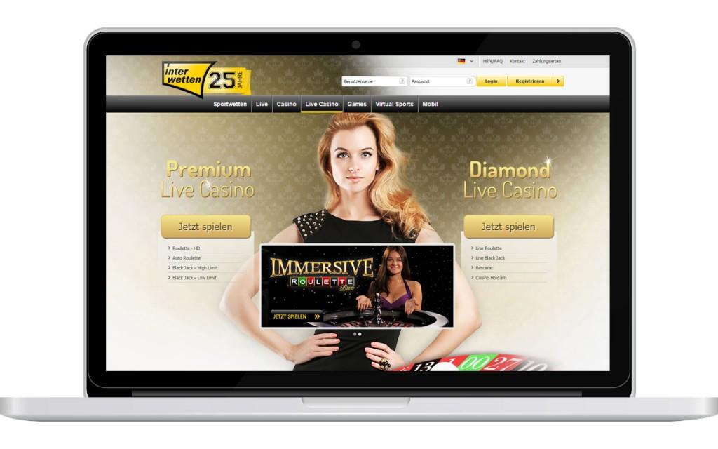 Premium Live Casino bei Interwetten (Quelle: Interwetten)