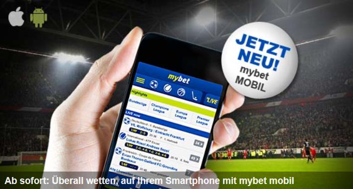 Die mybet App ist in Sekunden eingerichtet und aufgerufen (Quelle: mybet)