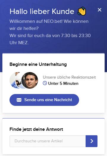 Kundenservice von NEO.bet