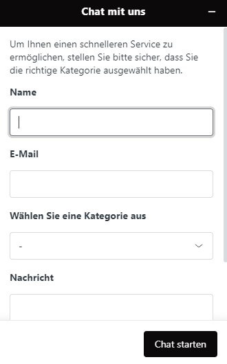 Live-Chat von Select.bet