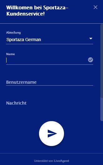 Live-Chat von Sportaza