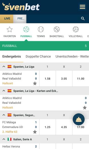 Svenbet Sportwetten Erfahrungen – Mobile App