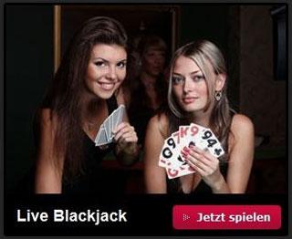 Live Casino mit Live Blackjack wird ebenfalls angeboten (Quelle: Tipico)