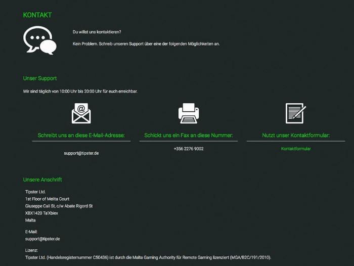 Tipster Sportwetten Erfahrungen – Kundenservice