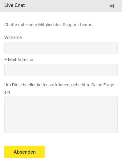 Live Chat von Unibet