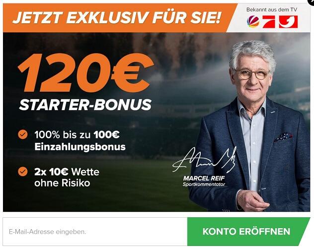 Wetten.com Bonus Registrierung