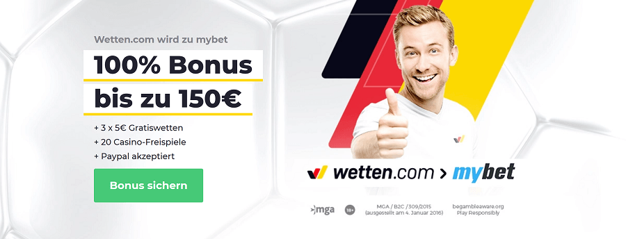 Wetten.com wird zu mybet
