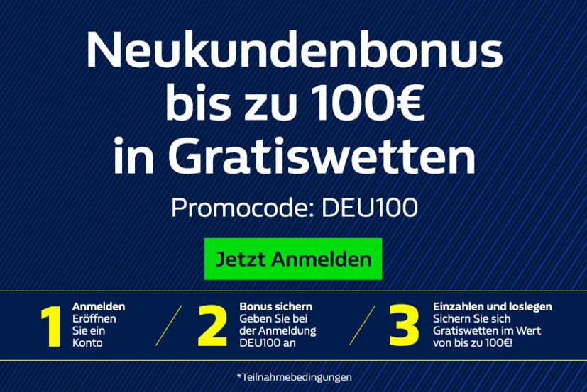 William Hill Neukundenbonus Registrierung